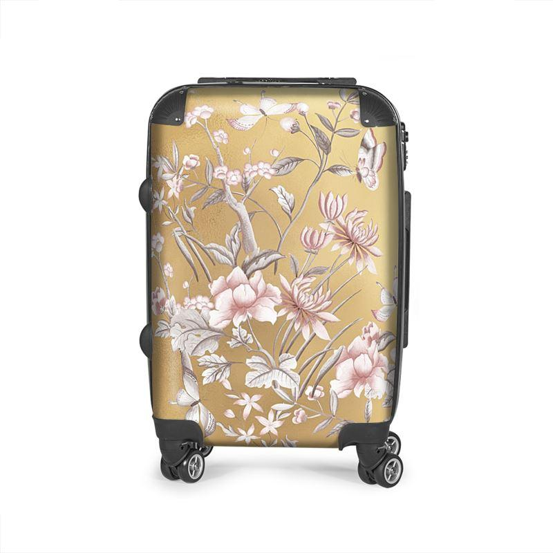 Castlefield Design Chinoiserie Gold Suitcase