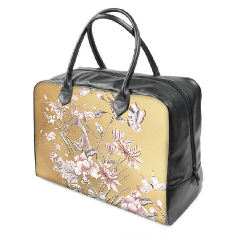 Castlefield Design Chinoiserie Gold Weekender Bag