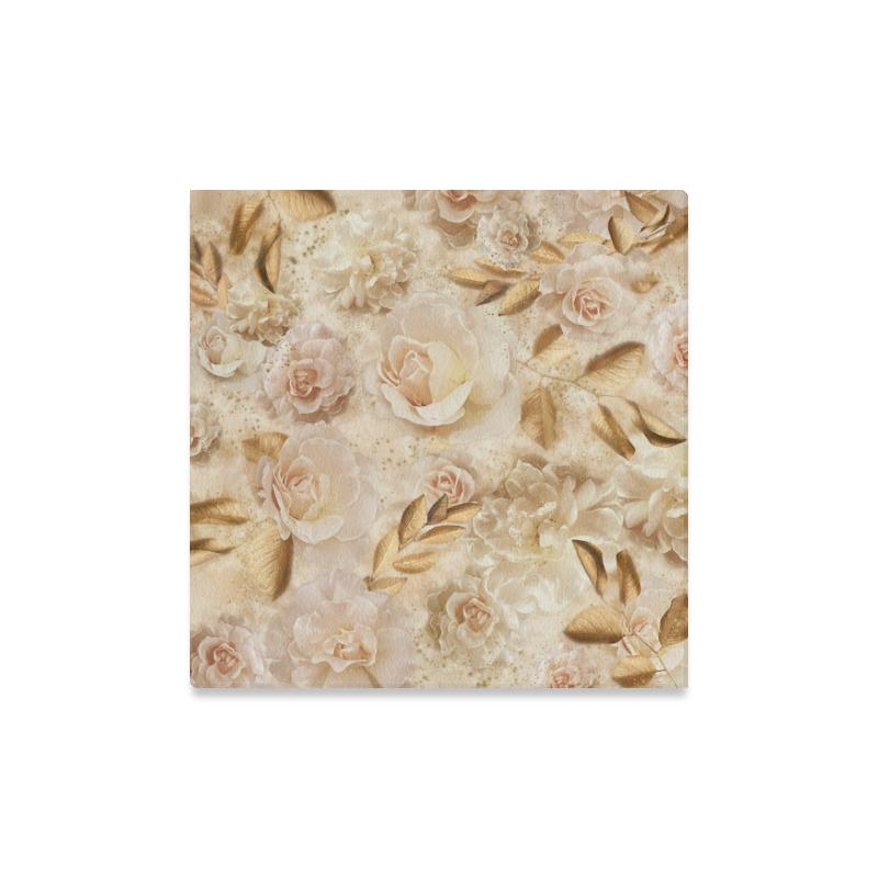 Castlefield Design Dreamy Floral Canvas Print