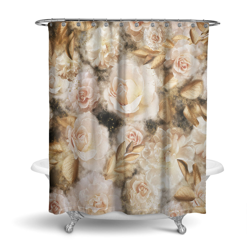 Castlefield Design Dreamy Floral Shower Curtain