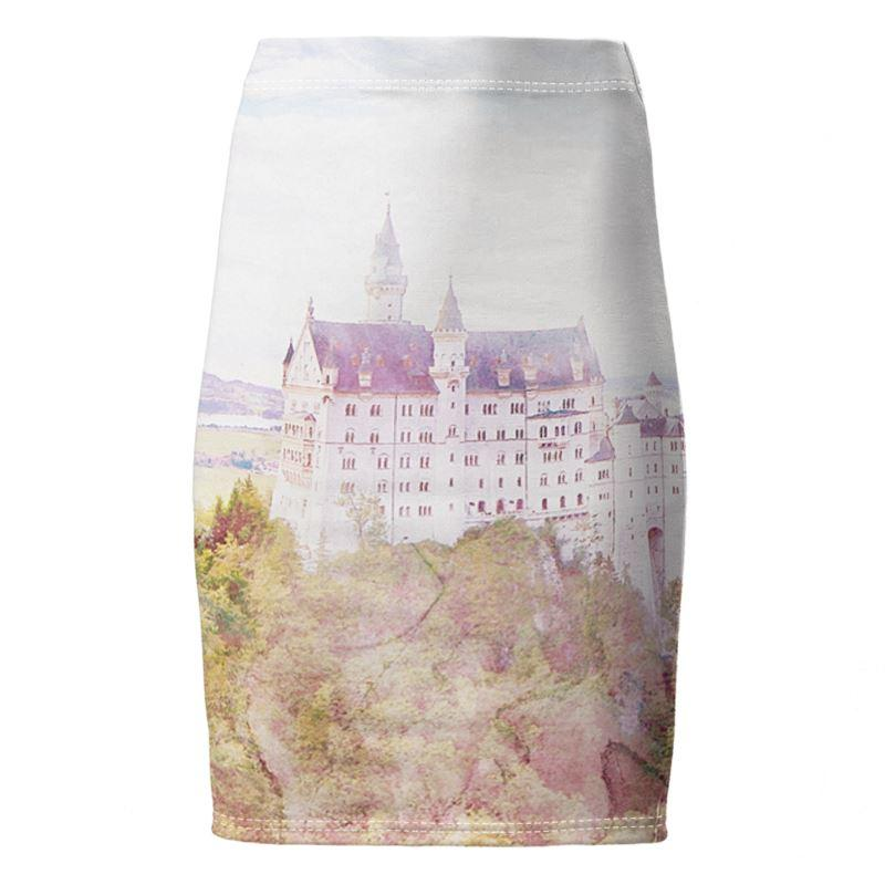 Castlefield Design Fairytale Castle Pencil Skirt