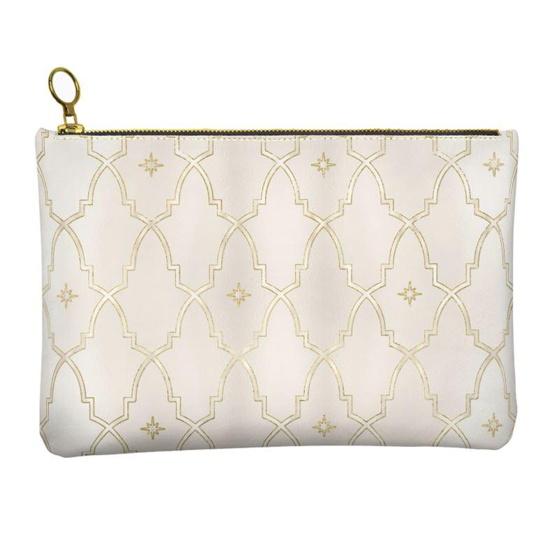 Castlefield Design Gilded Arches Leather Clutch