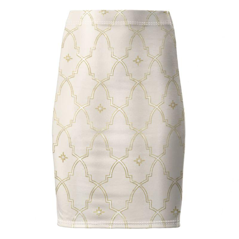 Castlefield Design Gilded Arches Pencil Skirt