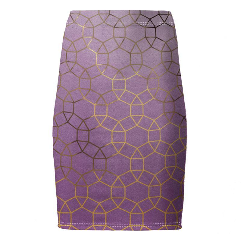 Castlefield Design Glam Geometric Pencil Skirt