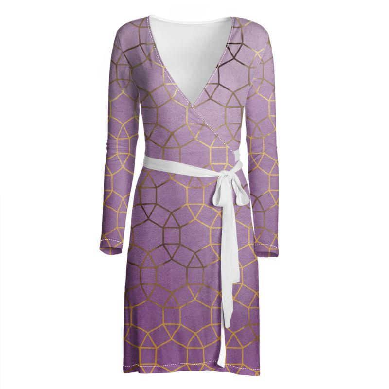 Castlefield Design Glam Geometric Wrap Dress