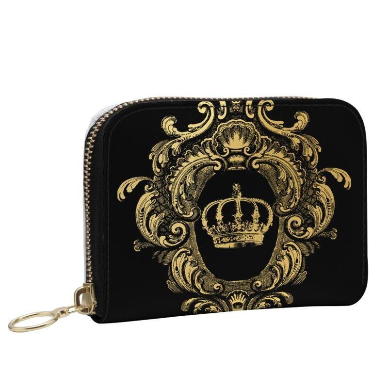 Castlefield Design Gold Crown Small Wallet