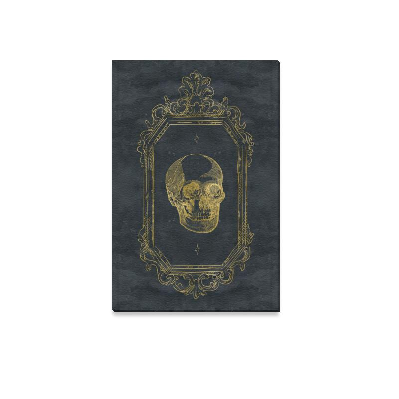 Castlefield Design Gothic Glam Skull Canvas Print