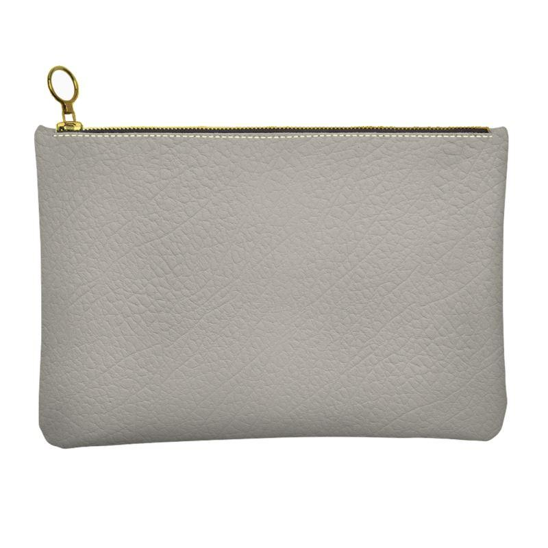 Castlefield Design Gray Leather Clutch