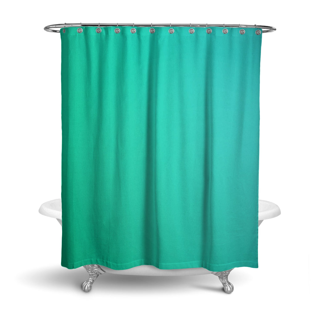 Castlefield Design Green Shower Curtain
