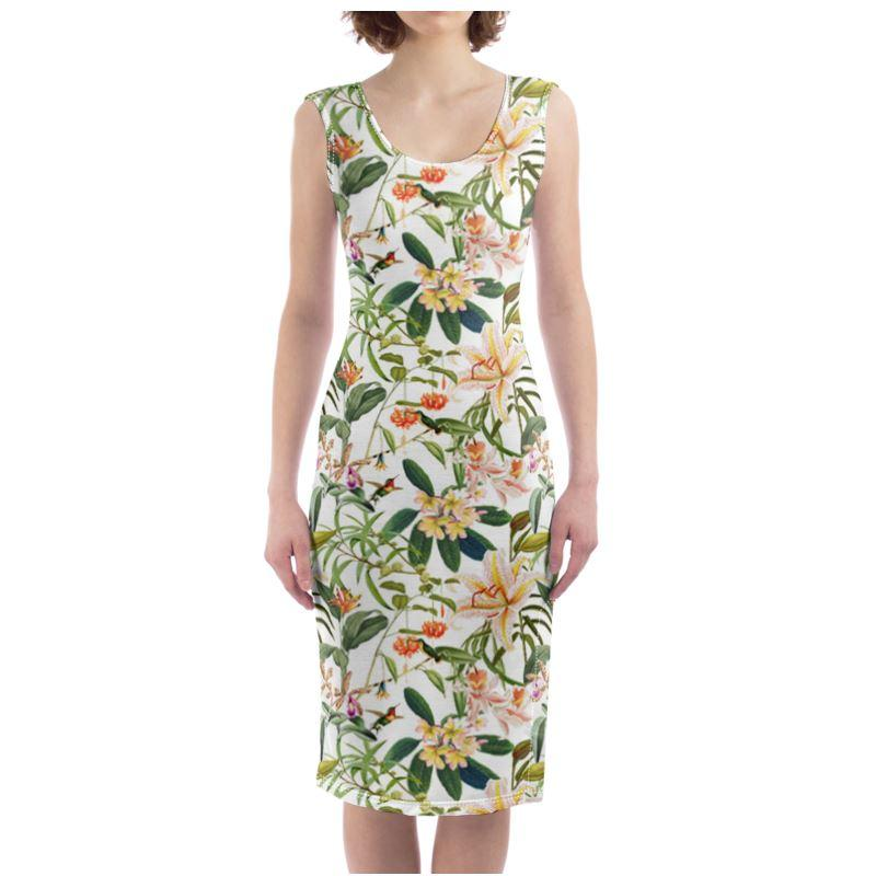 Castlefield Design Hummingbird Garden Bodycon Dress