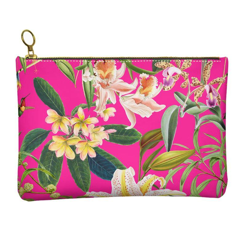 Castlefield Design Hummingbird Garden Leather Clutch