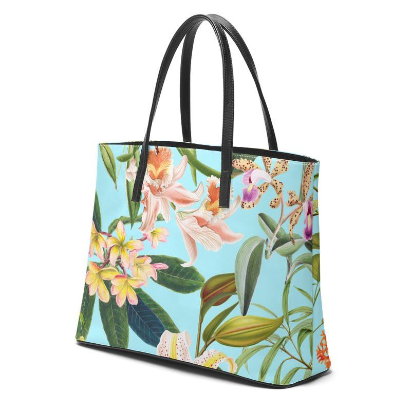 Castlefield Design Hummingbird Garden Leather Tote