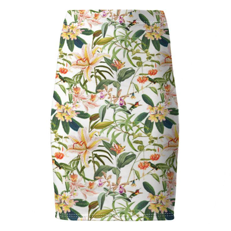 Castlefield Design Hummingbird Garden Pencil Skirt