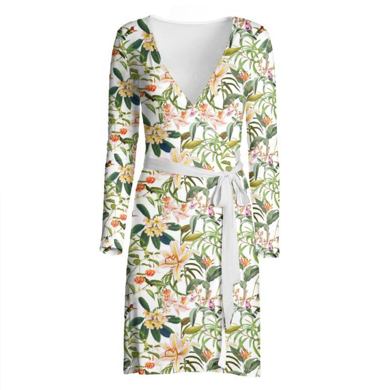 Castlefield Design Hummingbird Garden Wrap Dress
