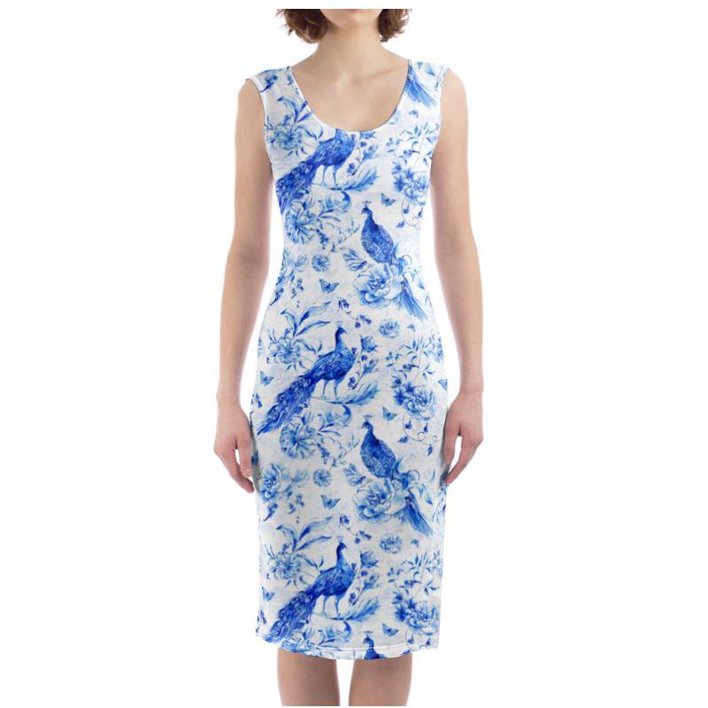 Castlefield Design Indigo Peacock Bodycon Dress