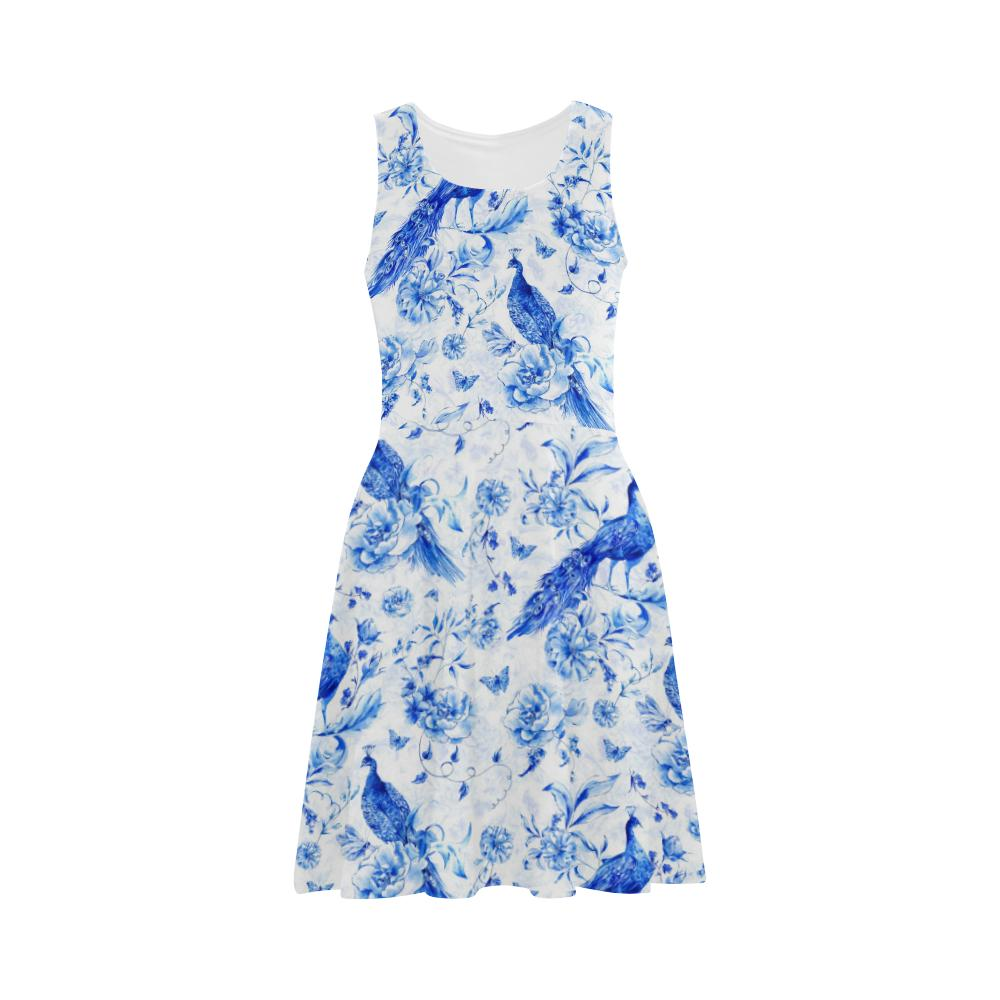 Castlefield Design Indigo Peacock Flare Dress