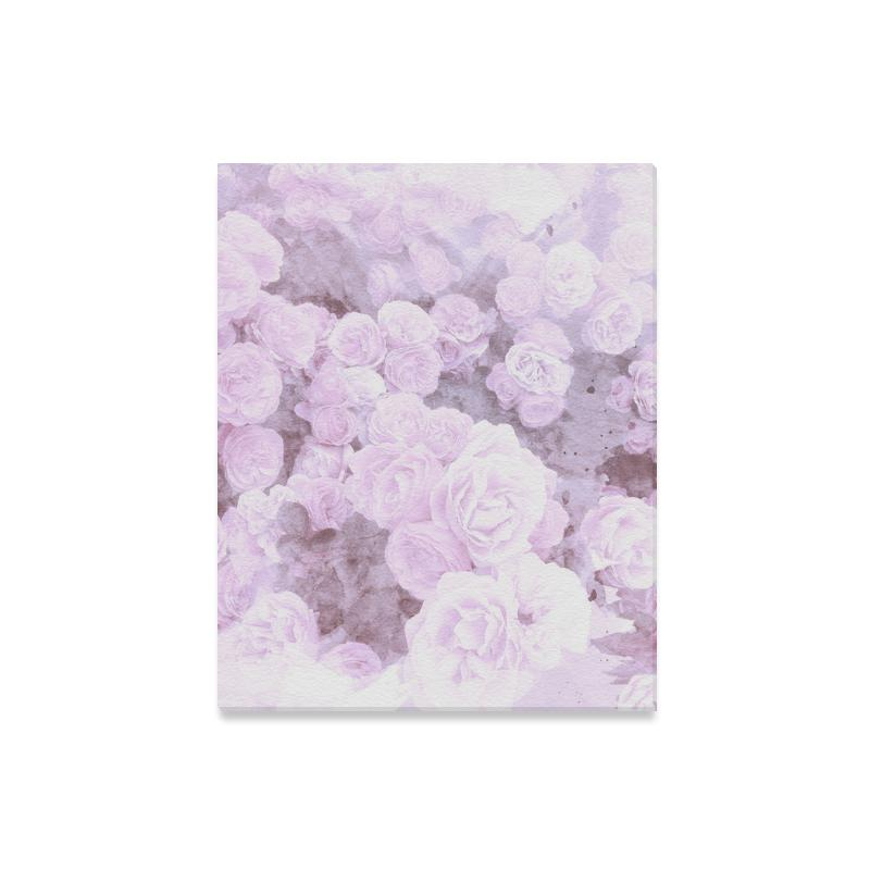 Castlefield Design Lilac Floral Canvas Prints