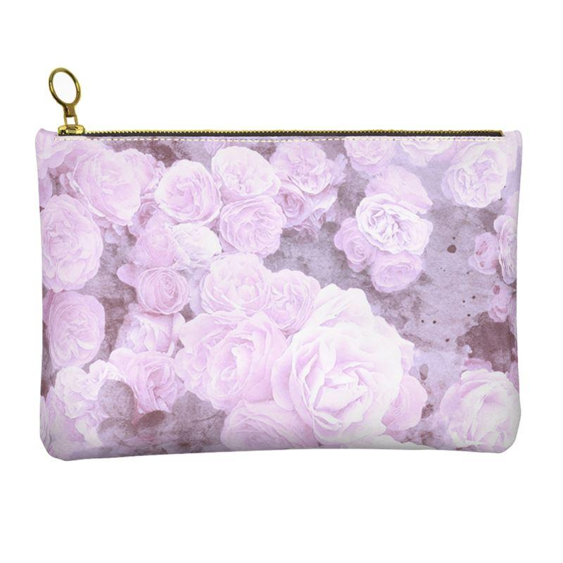 Castlefield Design Lilac Floral Leather Clutch