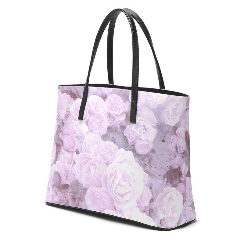 Castlefield Design Lilac Floral Leather Tote