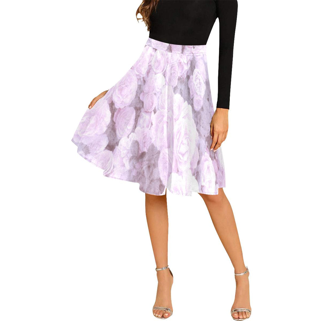Castlefield Design Lilac Floral Midi Skirt