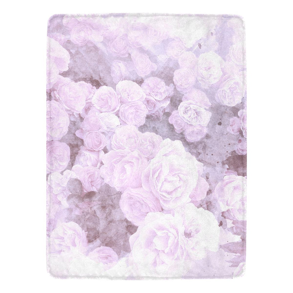 Castlefield Design Lilac Floral Throw Blanket