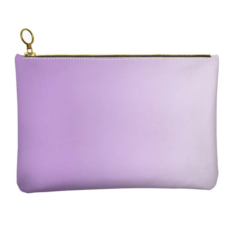 Castlefield Design Lilac Leather Clutch