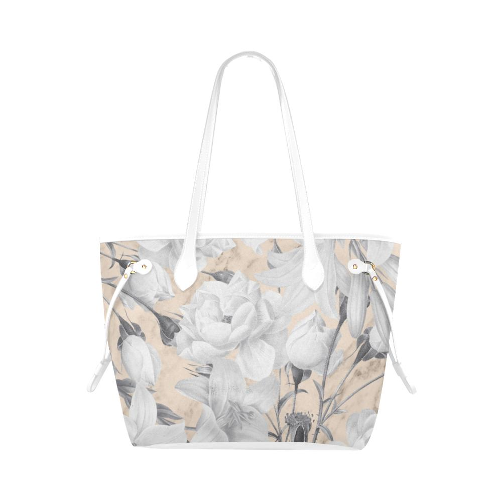 Castlefield Design Marble Floral Canvas Tote