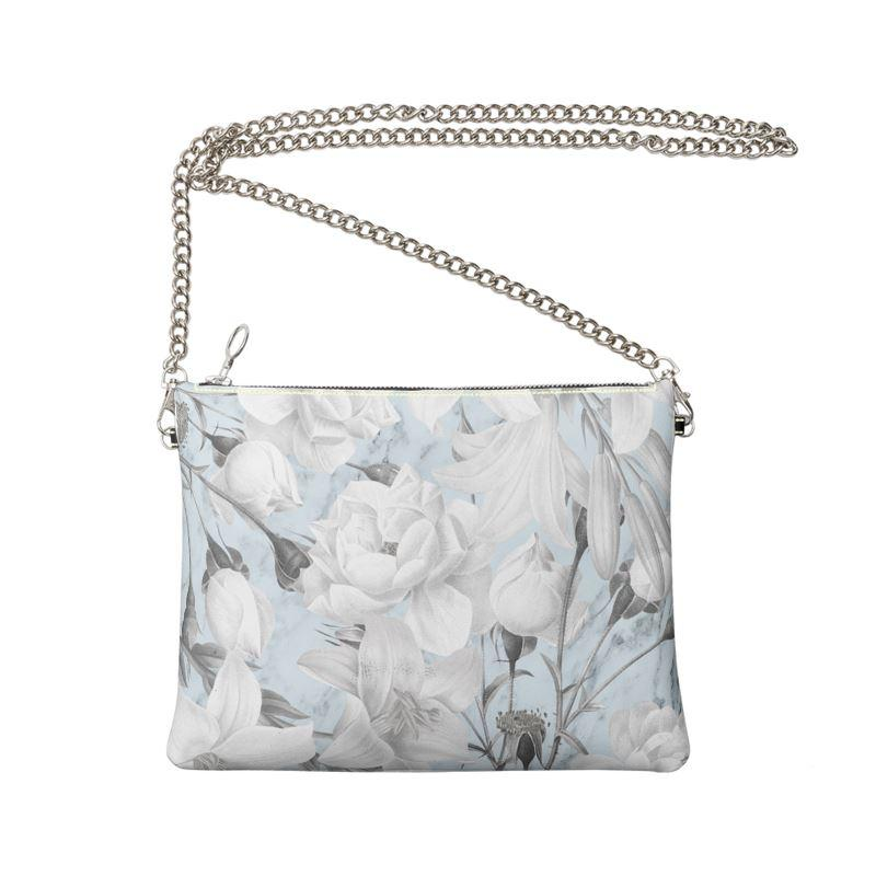 Castlefield Design Marble Floral Crossbody Bag