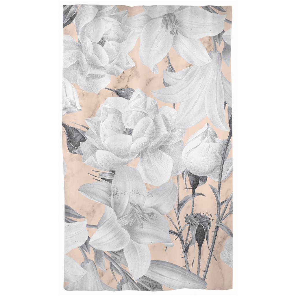 Castlefield Design Marble Floral Curtains
