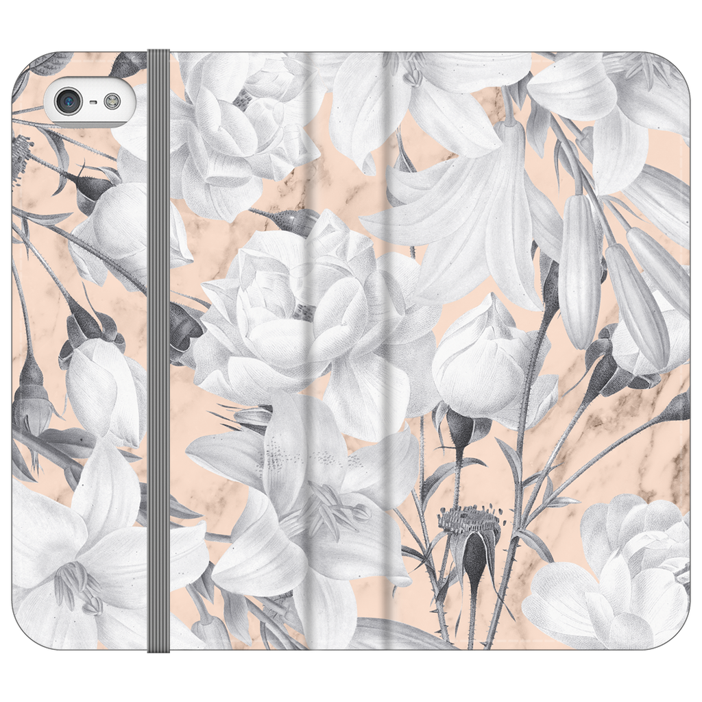 Castlefield Design Marble Floral iPhone Cases
