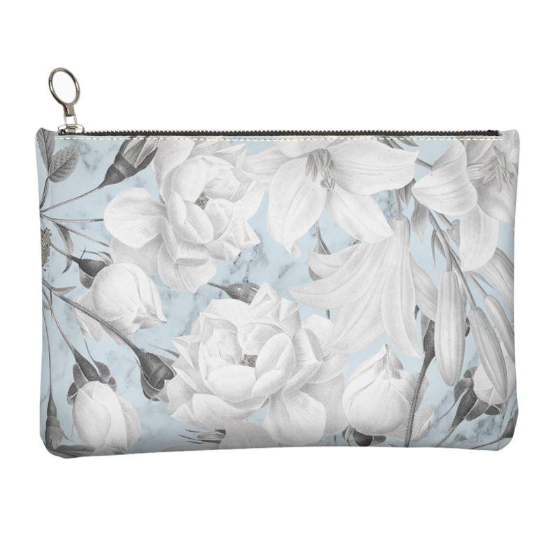 Castlefield Design Marble Floral Leather Clutch