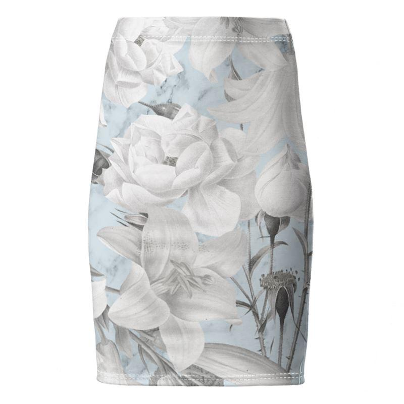 Castlefield Design Marble Floral Pencil Skirt