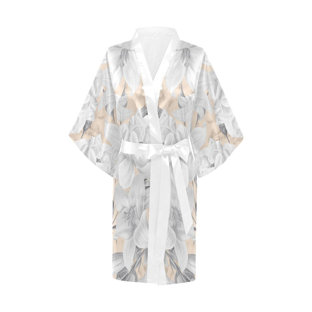 Castlefield Design Marble Floral Satin Robe