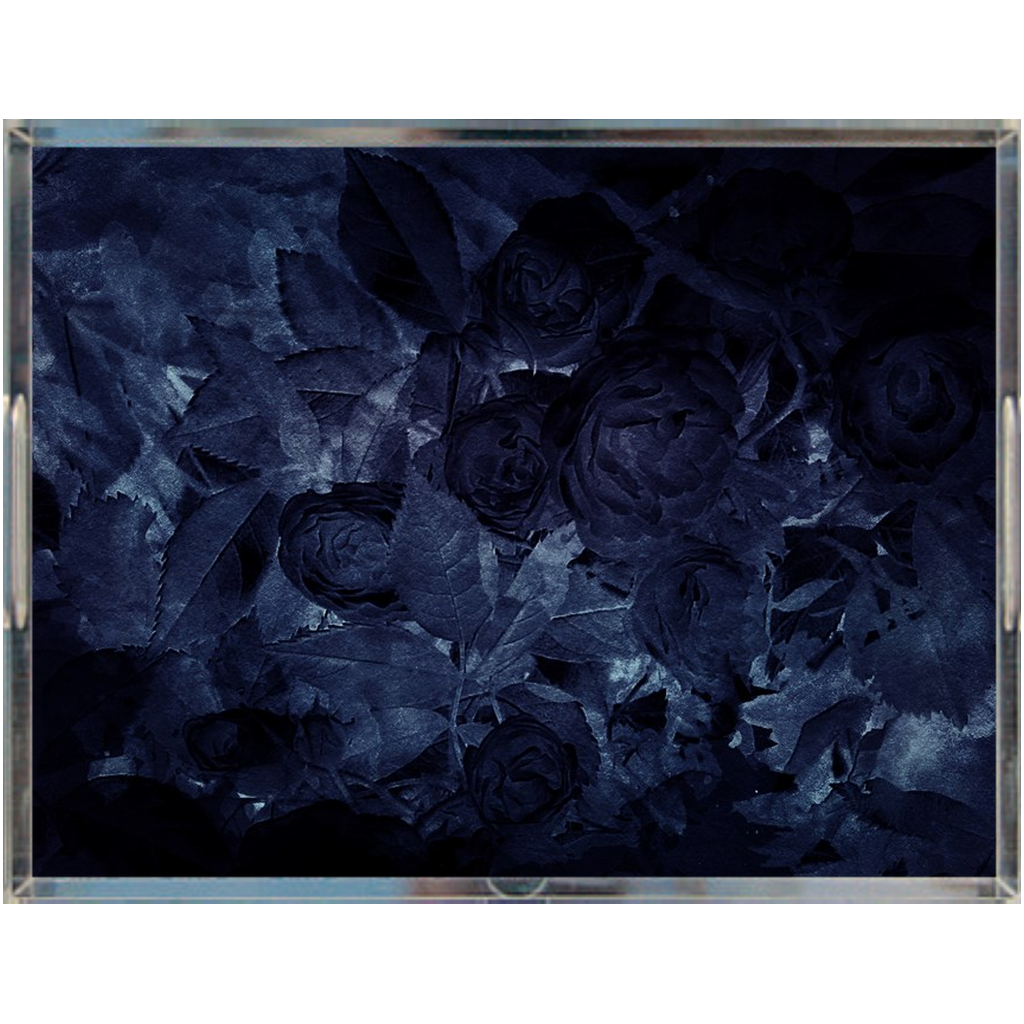 Castlefield Design Midnight Roses Acrylic Trays