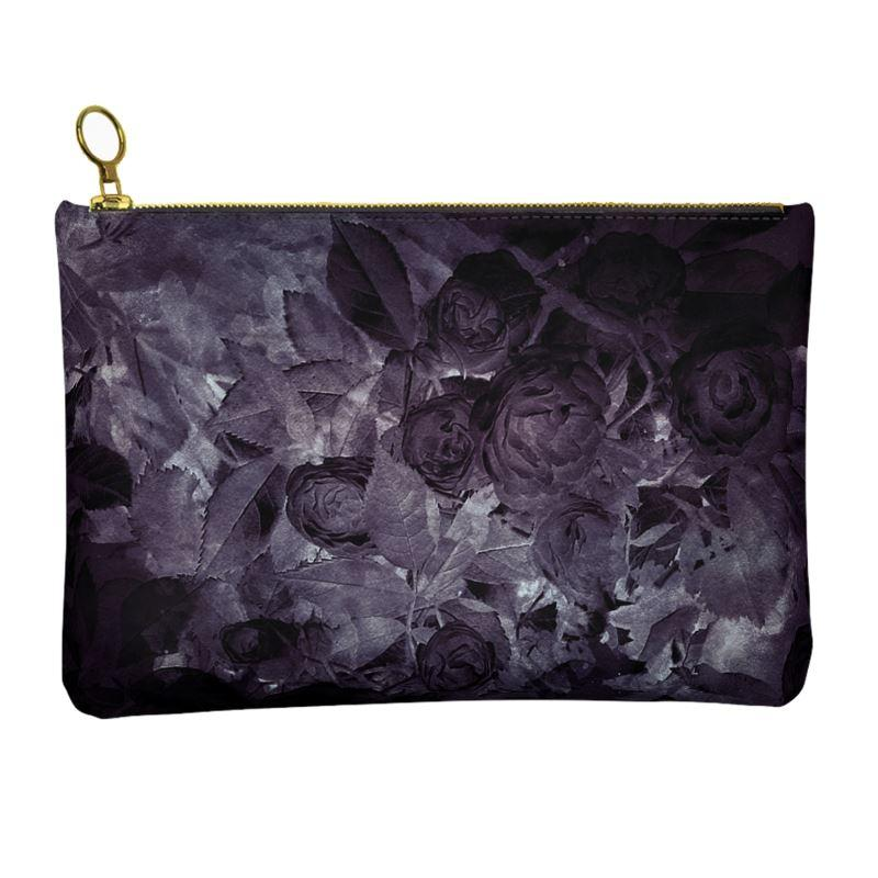 Castlefield Design Midnight Roses Leather Clutch