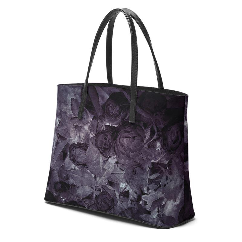 Castlefield Design Midnight Roses Leather Tote