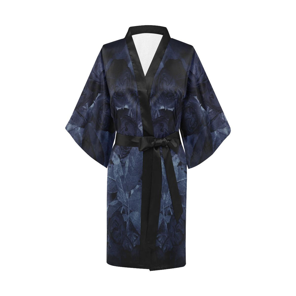 Castlefield Design Midnight Roses Satin Robe