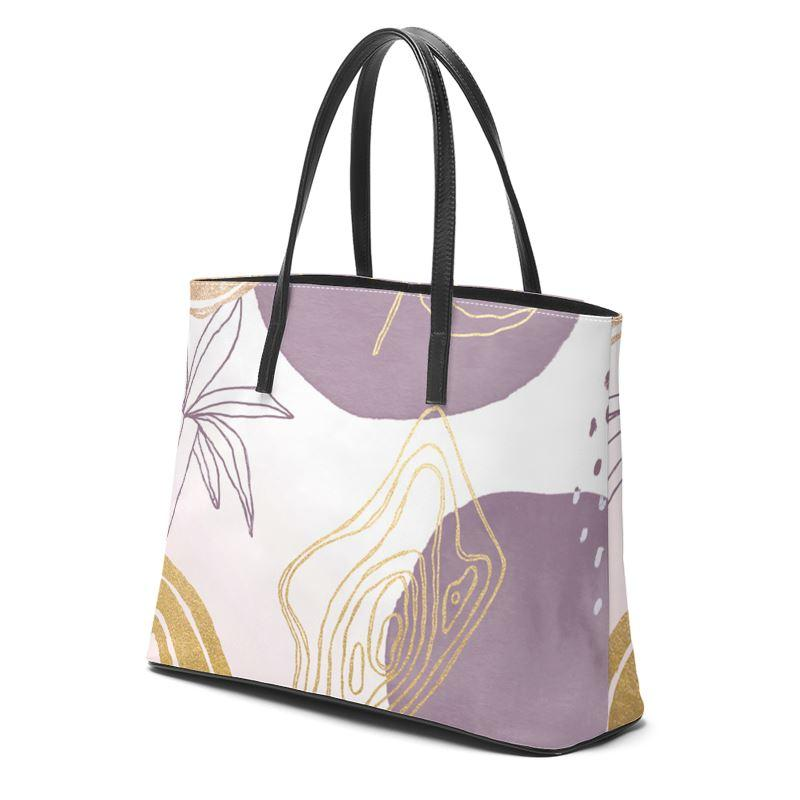 Castlefield Design Modern Shapes Leather Tote