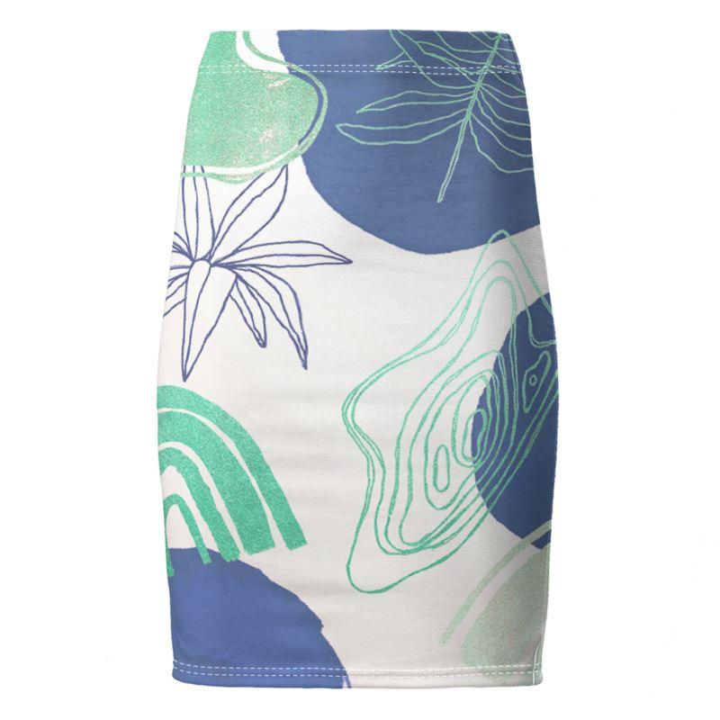 Castlefield Design Modern Shapes Pencil Skirt