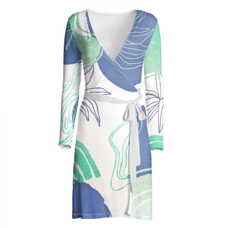 Castlefield Design Modern Shapes Wrap Dress