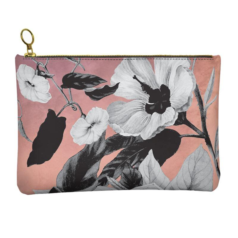 Castlefield Design Monochromatic Floral Leather Clutch