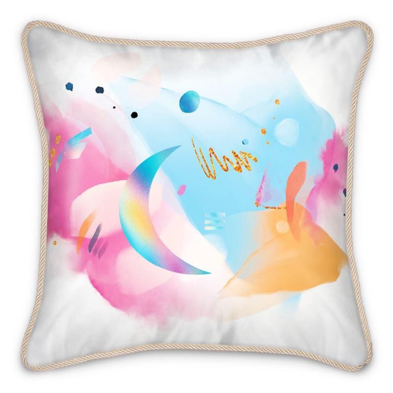 Castlefield Design Neon Dreams Silk Cushion