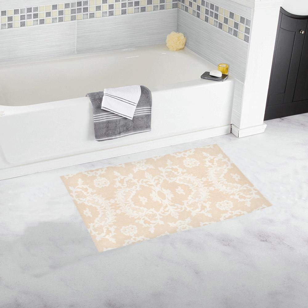 Castlefield Design Neutral Lace Bath Mats