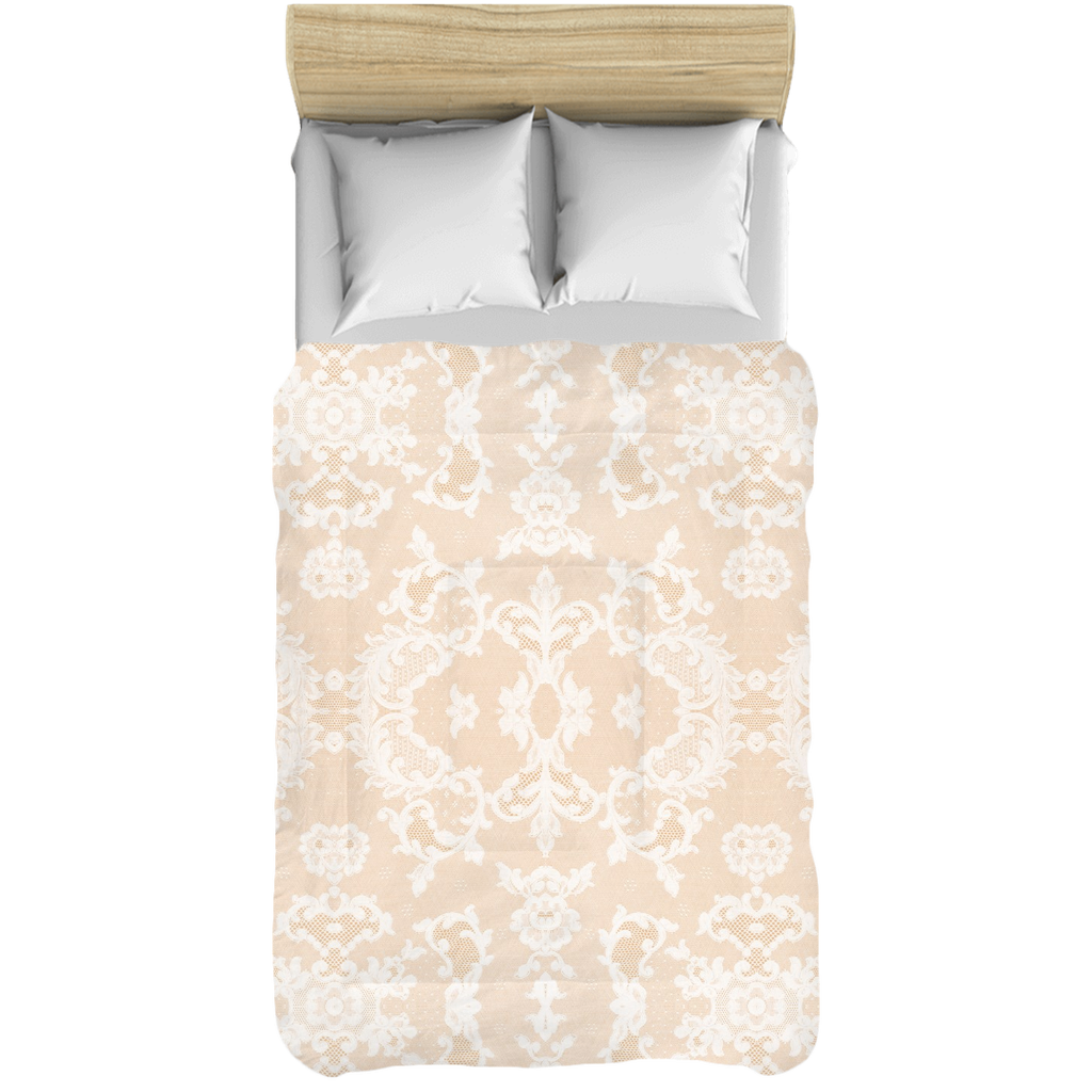 Castlefield Design Neutral Lace Comforters