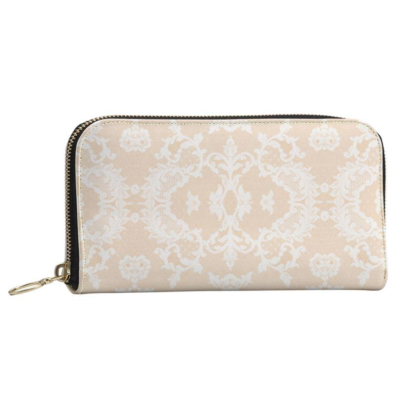 Castlefield Design Neutral Lace Large Wallet