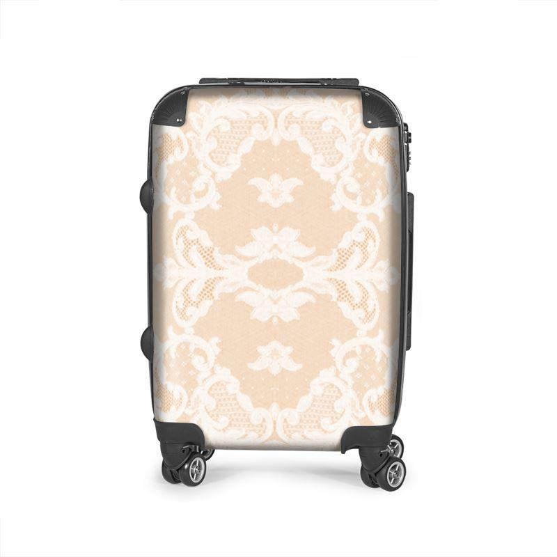 Castlefield Design Neutral Lace Suitcase