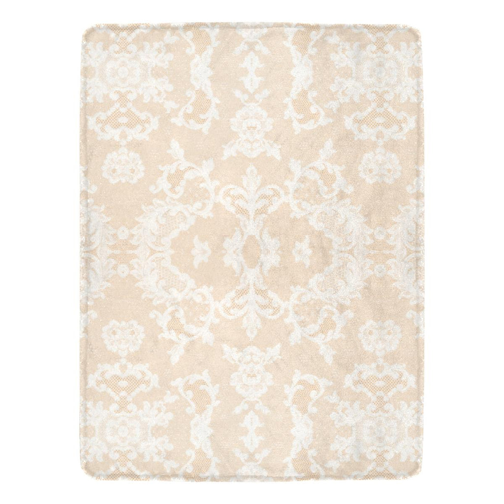 Castlefield Design Neutral Lace Throw Blanket