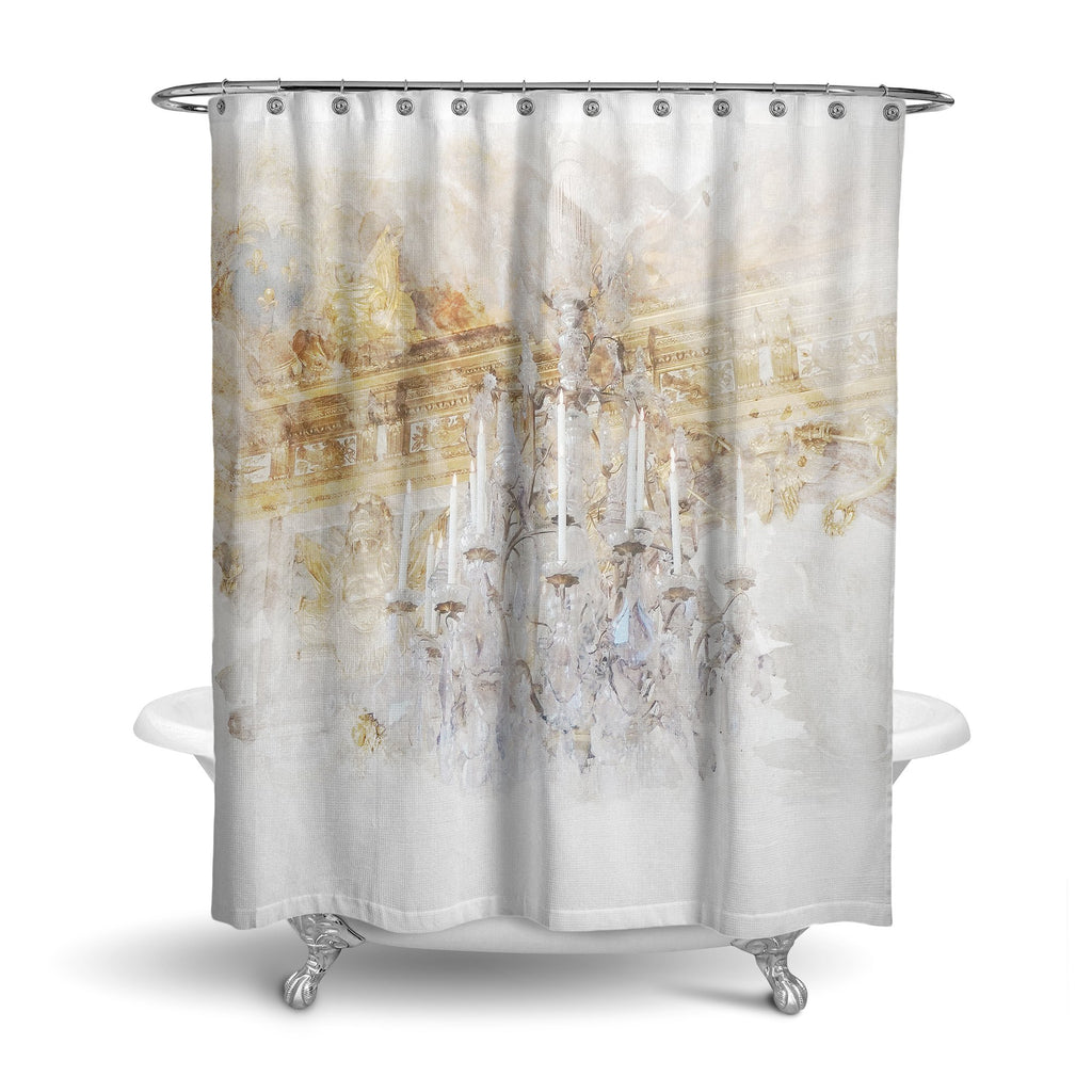 Castlefield Design Palace Chandelier Shower Curtain