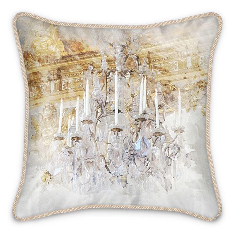 Castlefield Design Palace Chandelier Silk Cushion