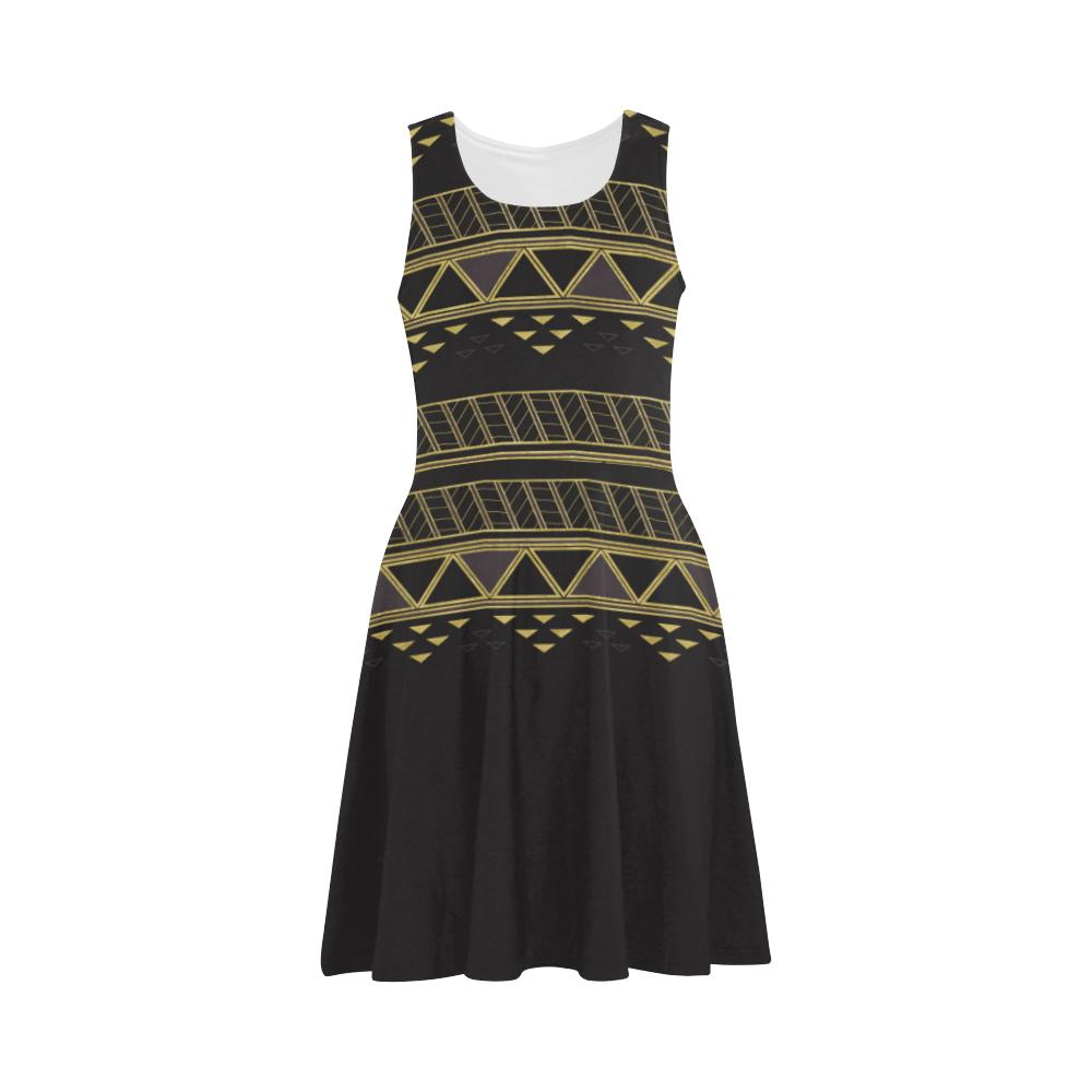 Castlefield Design Panther Geometric Flare Dress